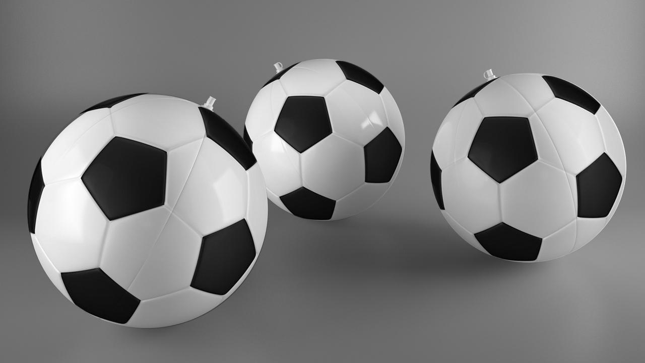 piłki dmuchane, gadżety piłkarskie