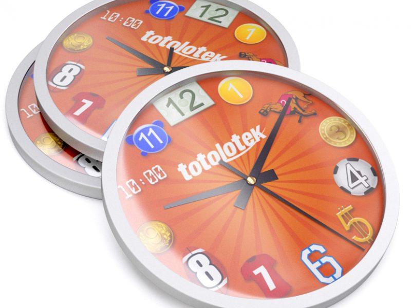 zegar reklamowy